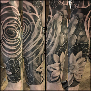 Koi sleeve in progress. Thx mr. Takala! #markuskoskela #downundertattoo #tatuointistudio #lappeenranta #goodinkbulgaria #goodink