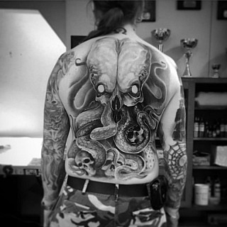 Freehand cthulhu. Better pic when healed. Kiitti mr Inkinen #markuskoskela #downundertattoo #tatuointistudio #lappeenranta