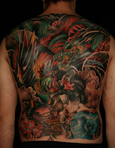 Japan Backpiece Tattooo