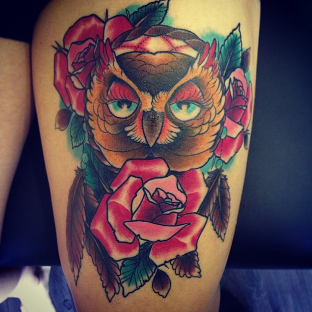 Ad more colors to this one today. Hope ya like! Roses blacks and backround healed...