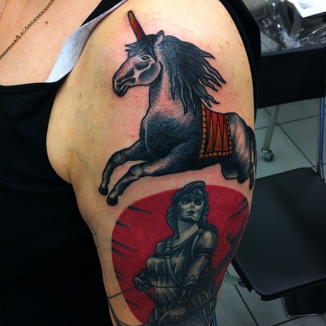 Cover-up of a unicorn