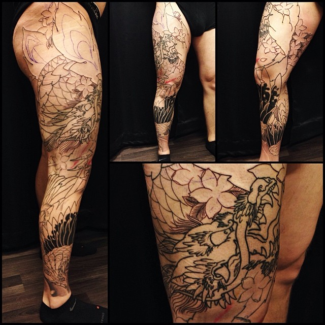 Little progress to leg sleeve today! Thanks Juho!