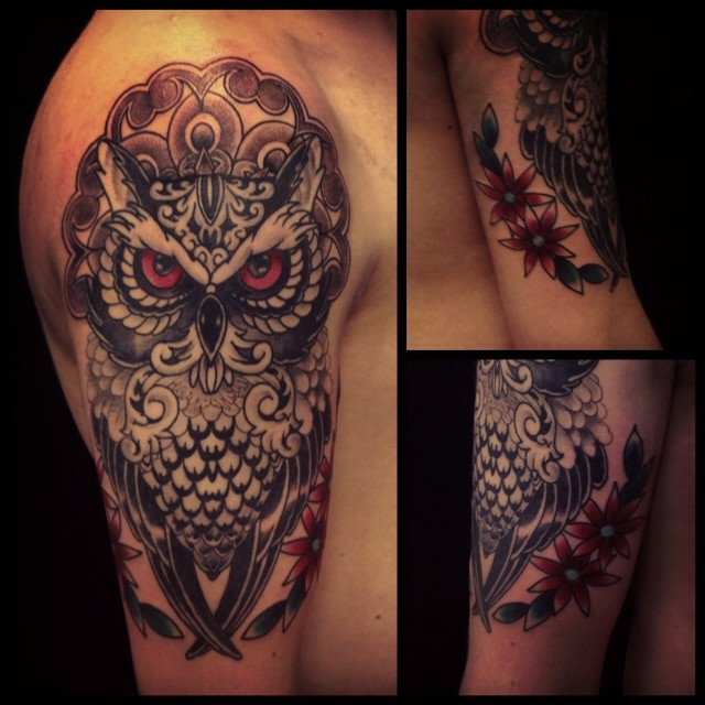 Little more this one. Was fun. Owl is healed only red eyes are fresh.