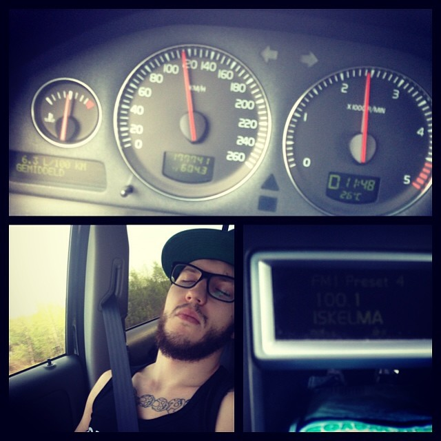 Driving to Oulu Tattoo Convention :D