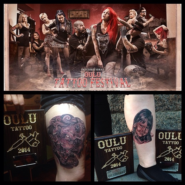 Thank you Oulu! See you next year! Pleased to see so many friends and making some nice tats. Won also best of the day friday and saturday. And best black and gray...