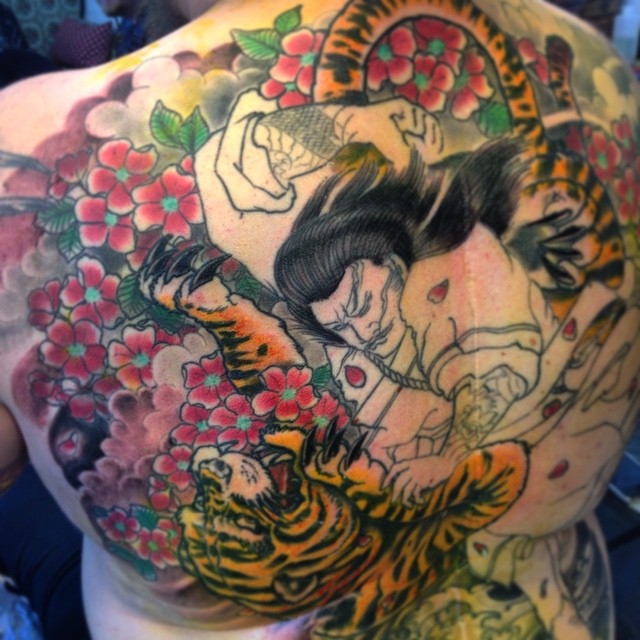 Littlebit this one today! In progress. Thx to Tomi and have a nice birthday! #downunder #japanesetattoo #japanese #irezumi #tattooistartmagazine