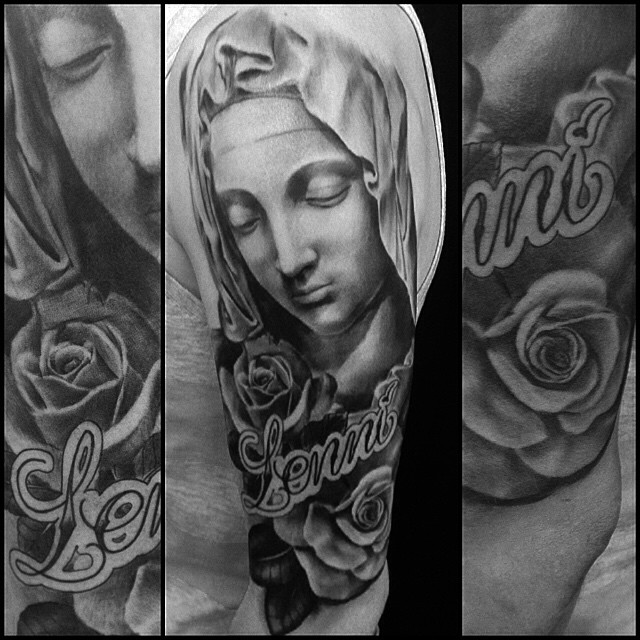 Thacks Ville! #downundertattoo #blackandgray #madonna #marked #lappeenranta #tatuointi #tattoo