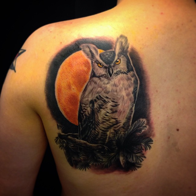 This one today. #downundertattoo #lappeenranta #owl #marked #tatuointi