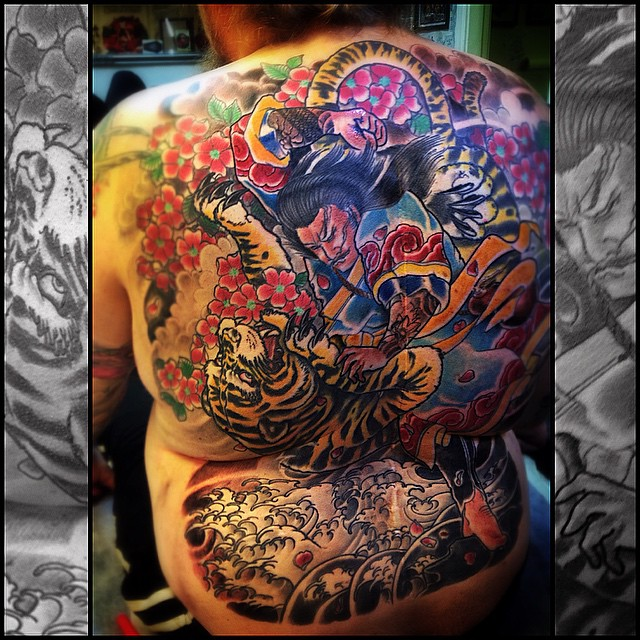Finish this long project today! Thank you mr. Saastamoinen! #japanesetattoo #irezumi #downundertattoo #tatuointi #oriental #marked #lappeenranta