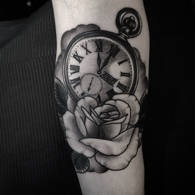 This one today. Thanks mr. Ryynänen! Good times ️ #tatuointi #mustaharmaa #kello #watchtattoo #blackandgray #downundertattoo #lappeenranta #marked