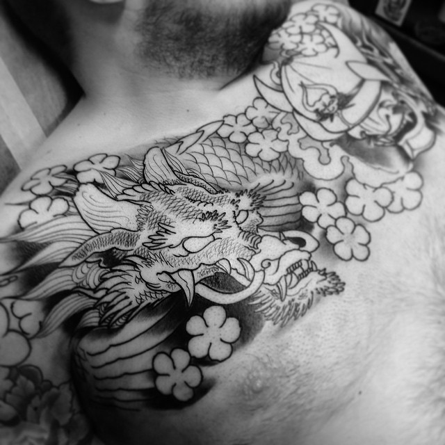 Todays work in progress, thank you mr Bond! @hiatused #japanese #dragontattoo #downundertattoo #markuskoskela #marked #lappeenranta #lpr