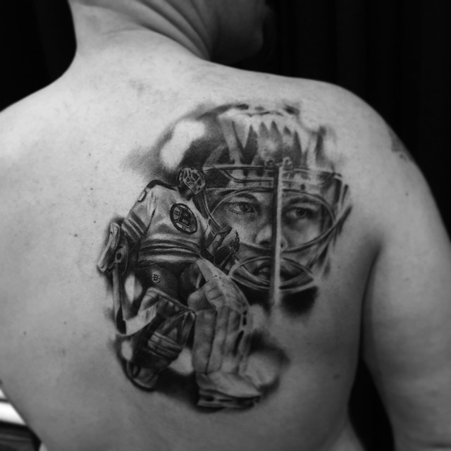 This one at Helsinki Ink. #helsinkiink #helsinkiINK #downundertattoo #markuskoskela #tuukkarask #nhl #boston